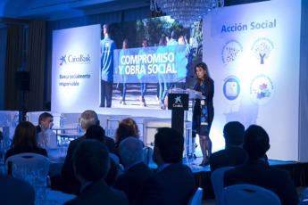 Isabel Moreno, durante su primer discurso como directora territorial.