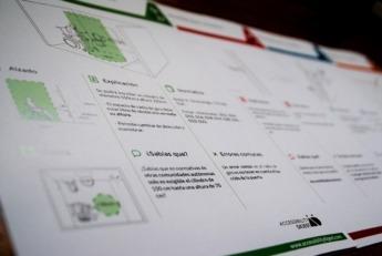 Varias fichas de la guía visual creada por Miren y Marcela.