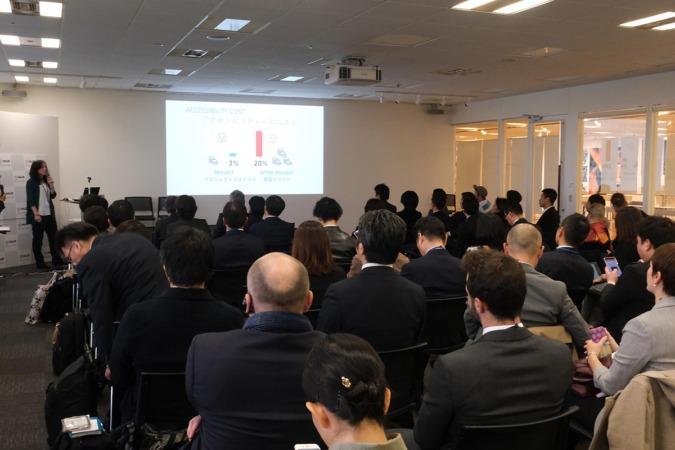 Exposición de la empresa navarra en Tokyo.