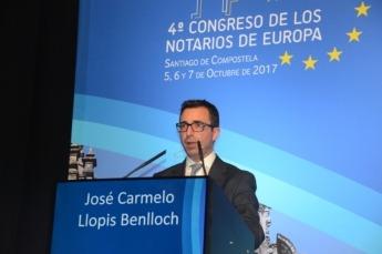 Carmelo Llopis, notario y delegado español en el grupo de Nuevas Tecnologías del Consejo General del Notariado durante elCongreso Europeo del Notariado en 2017.