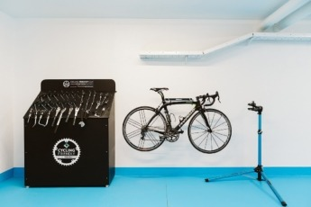 'Bike room' del Hotel Alma.