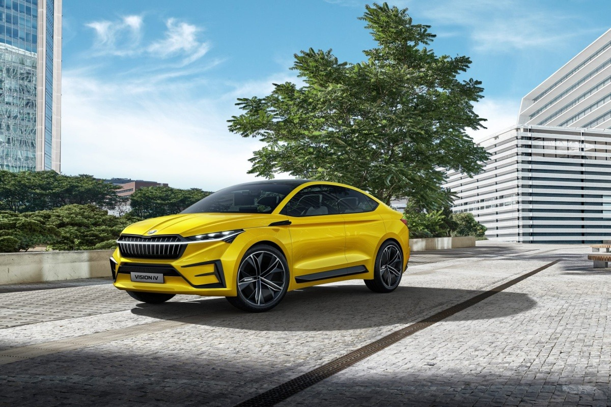 En 2020, el Vision iV inaugura la nueva era electrificada de la marca checa.