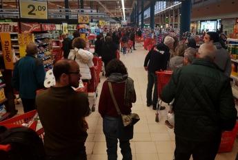 La afluencia en los supermercados ha aumentado desde el inicio de la crisis.