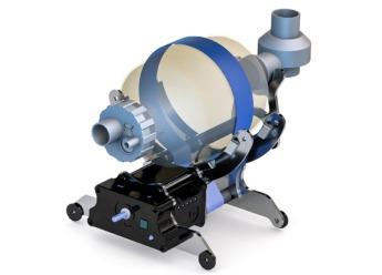 Prototipo de respirador diseñado por el equipo.