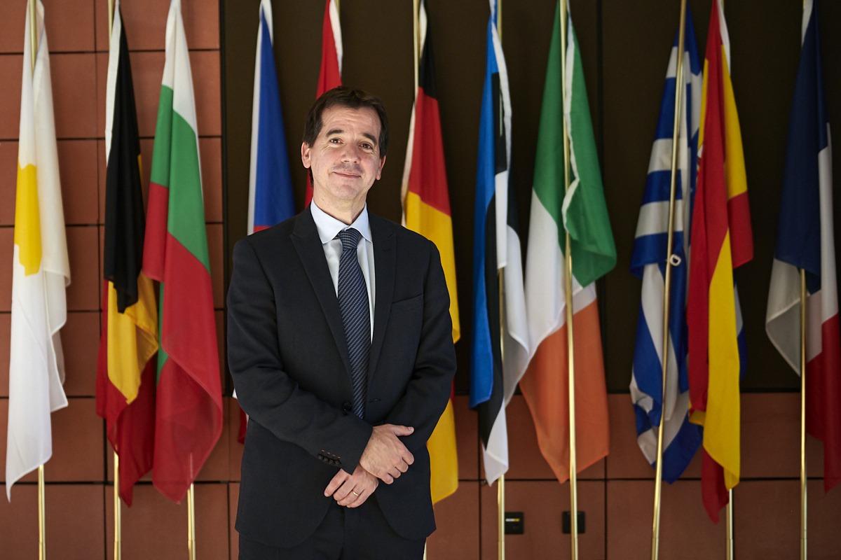 Mikel Irujo, tras su intervención en el Comité de las Regiones.