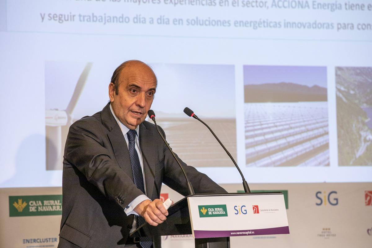 Rafael Mateo, durante su ponencia de este martes en Pamplona.