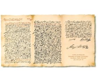 Documento notarial de 1647 que testifica el inicio de la saga Chivite en el mundo del vino.