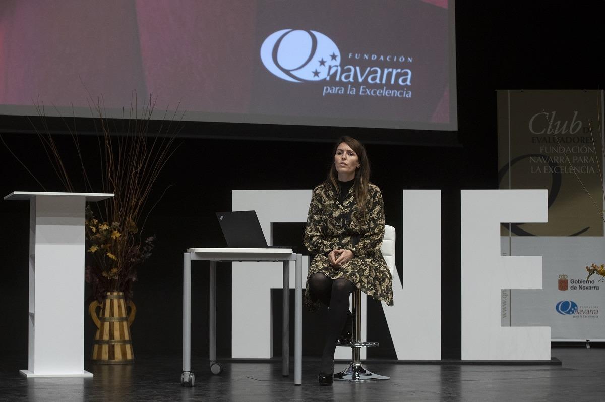 Natividad Luqui, en una gala que no contó con público debido a la pandemia.