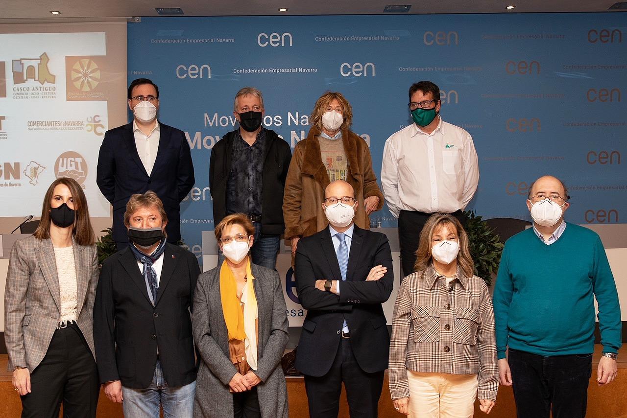 Representantes de las entidades que acudieron a la rueda de prensa, celebrada en la sede de la CEN.