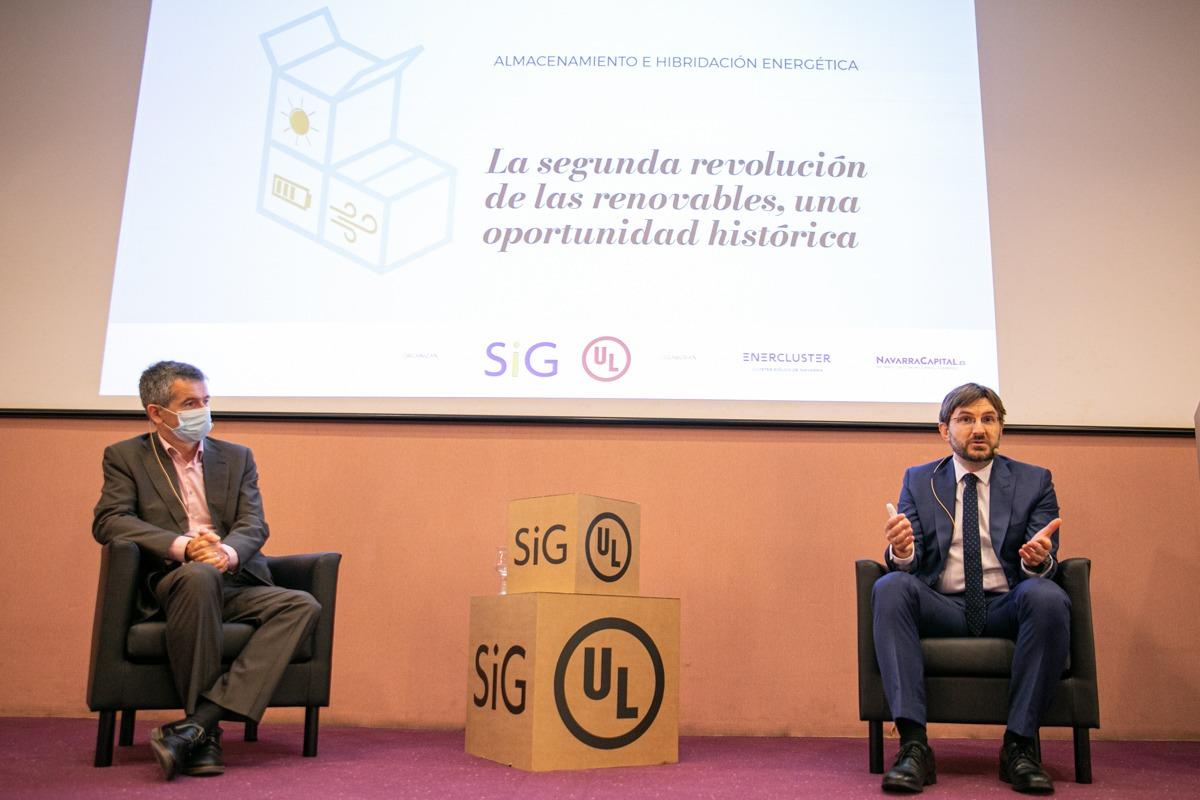 Santiago Parés y Joseba Ripa, representantes de la empresa UL.