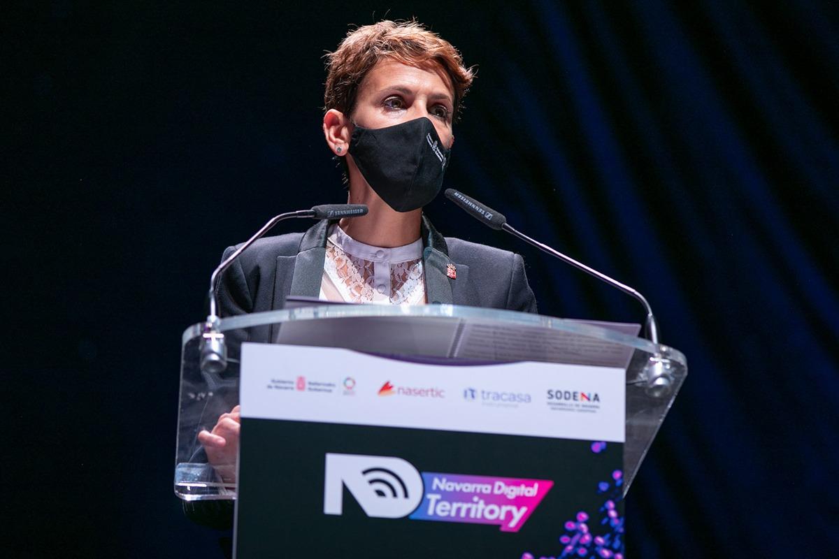 María Chivite fue la encargada de clausurar el encuentro, celebrado en el Navarra Arena.