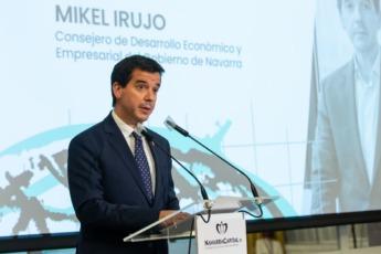 Mikel Irujo, durante su discurso de este jueves.