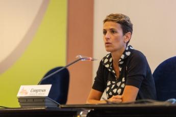 María Chivite durante su intervención.