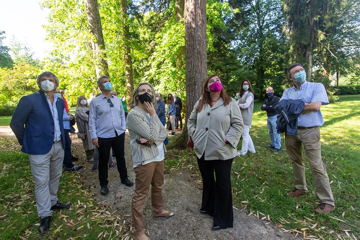 La jornada organizada este miércoles por la UiS incluyó una visita guiada a Bertiz.
