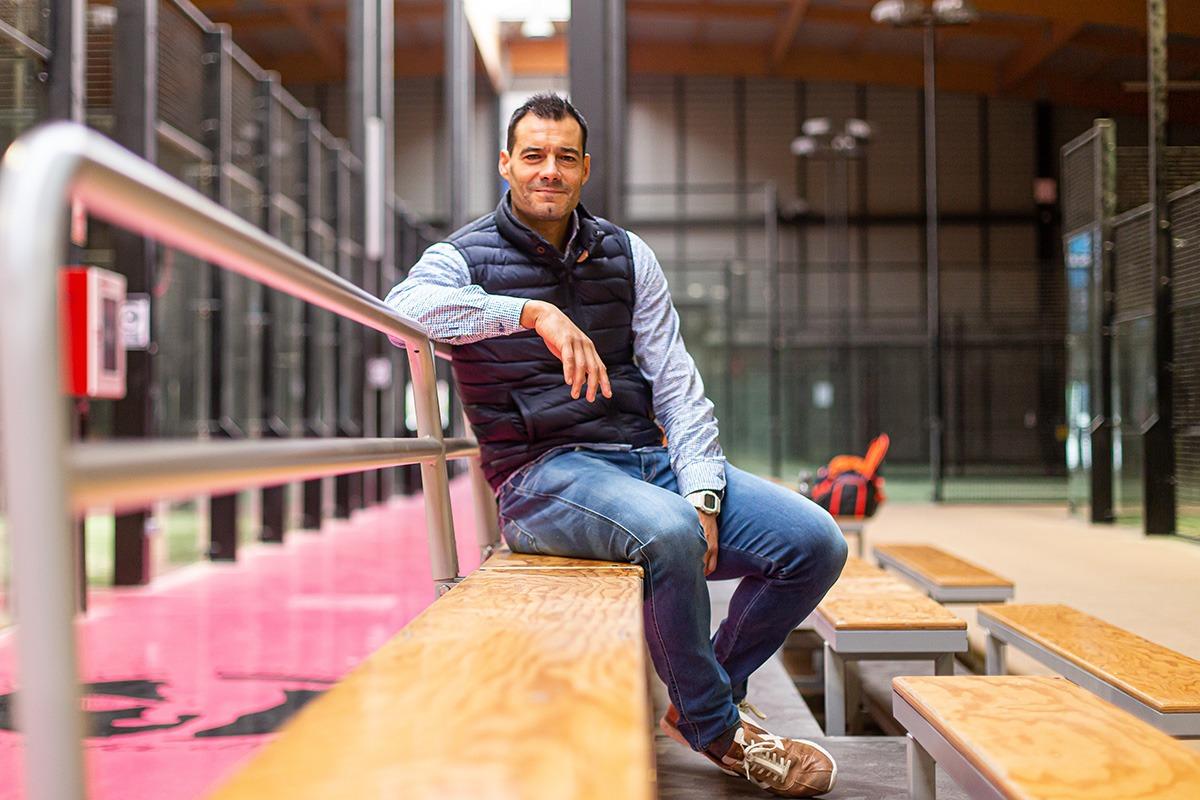 Cruchaga ha encontrado en el pádel un nuevo camino profesional, también ligado al deporte.