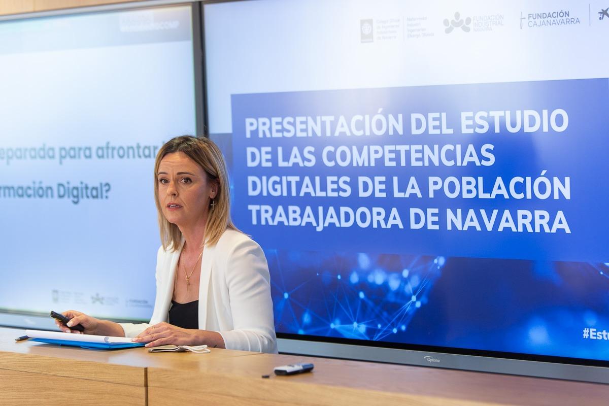 Eva Perujuániz, durante la presentación del estudio.
