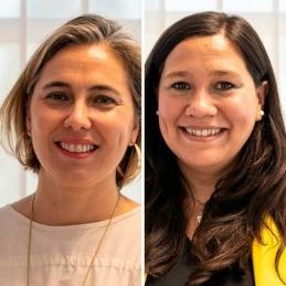 Isabel Olloqui y María Eugenia Clouet.
