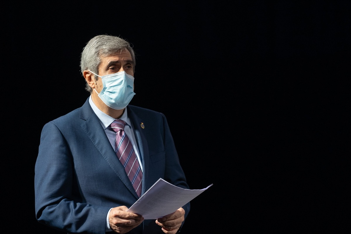 Miguel Iriberri, durante su intervención en el encuentro.
