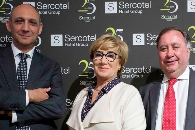 Los fundadores de Sercotel: Benjamín Sanz, Marisol Turró y Javier Garro.