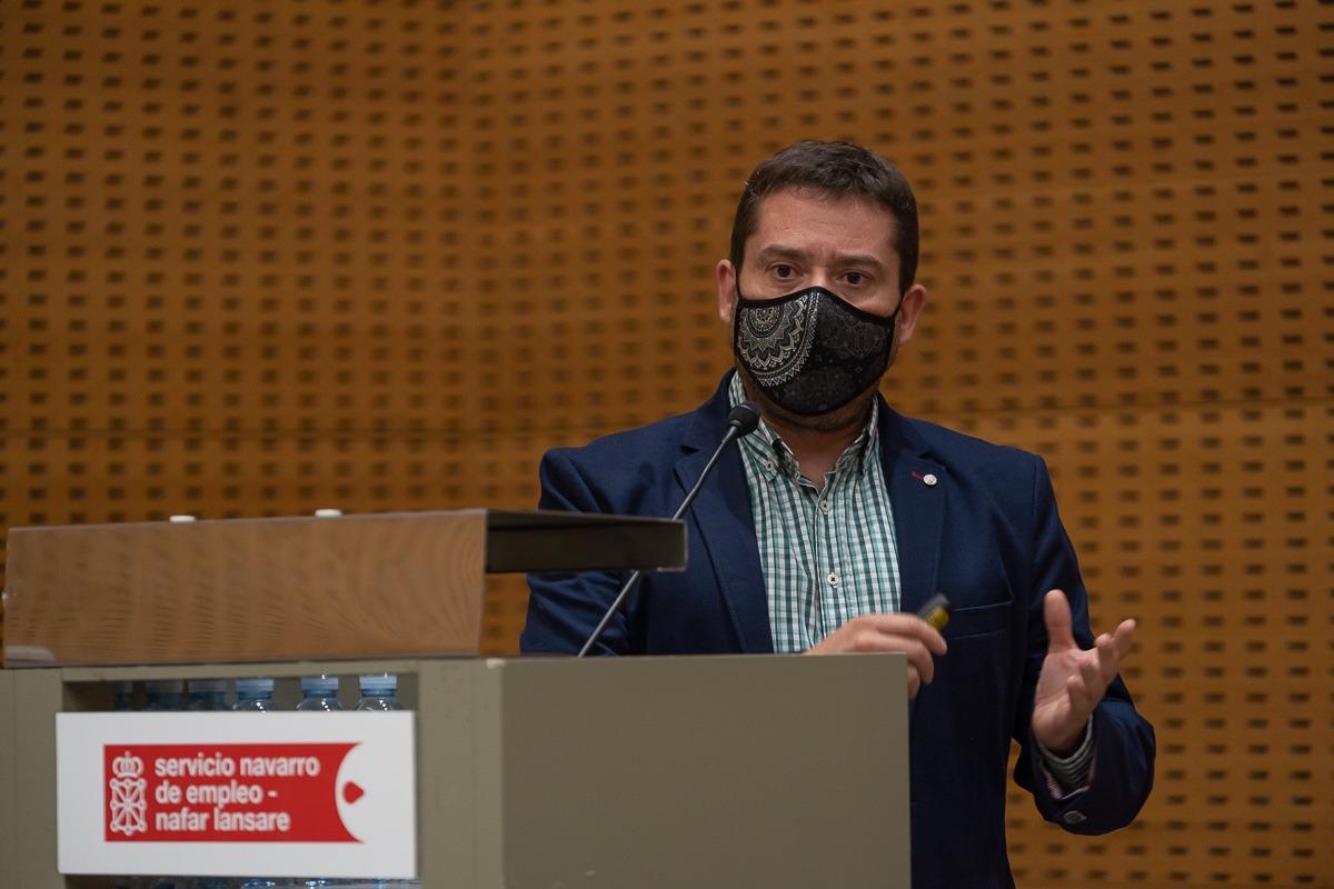 Miguel Ángel Jiménez (Fundación Saltoki) expuso los avances que ha conseguido su entidad desde que inauguró su Escuela Sectorial de Aprendices.